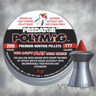 JSB Predator Polymag Airgun Pellets cal .177 4.50mm 200 pcs