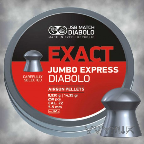 JSB Exact Jumbo Express Airgun Pellets cal .22 5.52mm 250 pcs