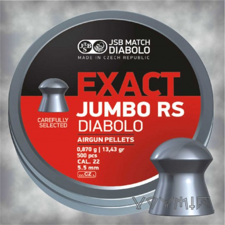 JSB Exact Jumbo RS Airgun Pellets cal .22 5.52mm 500 pcs