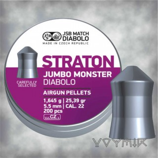 JSB Straton Jumbo Monster Airgun Pellets cal .22 5.51mm 200 pcs