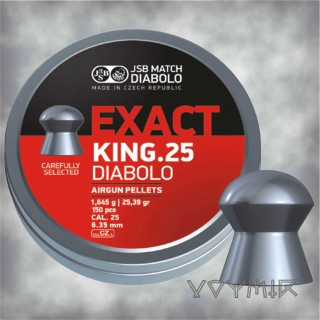 JSB Exact King Airgun Pellets cal .25 6.35mm 150 pcs