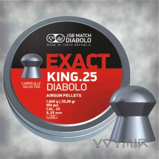 JSB Exact King Airgun Pellets cal .25 6.35mm 350 pcs