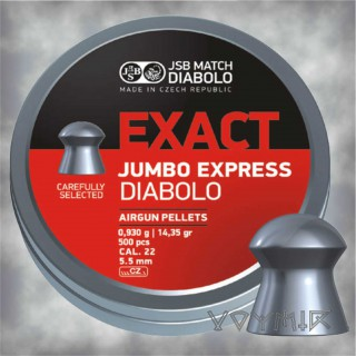JSB Exact Jumbo Express Airgun Pellets cal .22 5.52mm 500 pcs