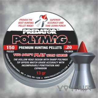 JSB Predator Polymag Airgun Pellets cal .20 5.1mm 150 pcs