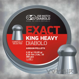 JSB Exact King Heavy Airgun Pellets cal .25 6.35mm 300 pcs