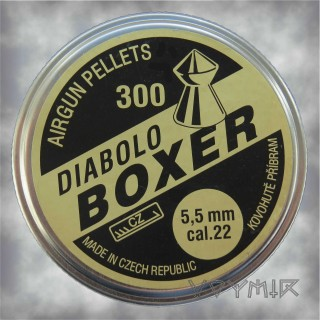 Kovohute Diabolo Boxer Airgun Pellets cal .22 5.5mm 300 pcs