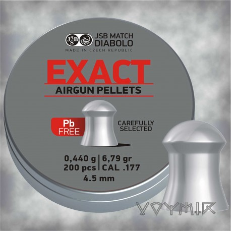 JSB Exact Lead Free Airgun Pellets cal .177 4.52mm 200 pcs