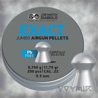 JSB Jumbo Exact Lead Free Airgun Pellets cal .22 5.52mm 200 pcs