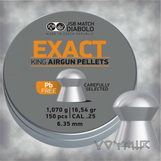 JSB Exact King Lead Free Airgun Pellets cal .25 6.35mm 150 pcs